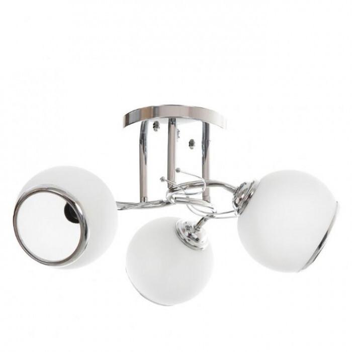 Полилей El 798/3 хром бял E27 40W 3 броя лампи
