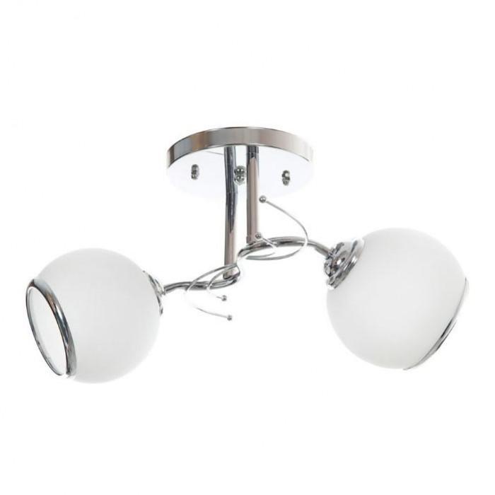 Полилей El 798/2 хром бял / E27 40W 2 броя лампи
