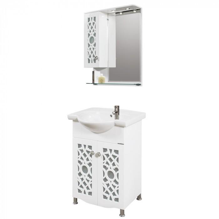 Горен PVC шкаф за баня с огледало Макена Каролина