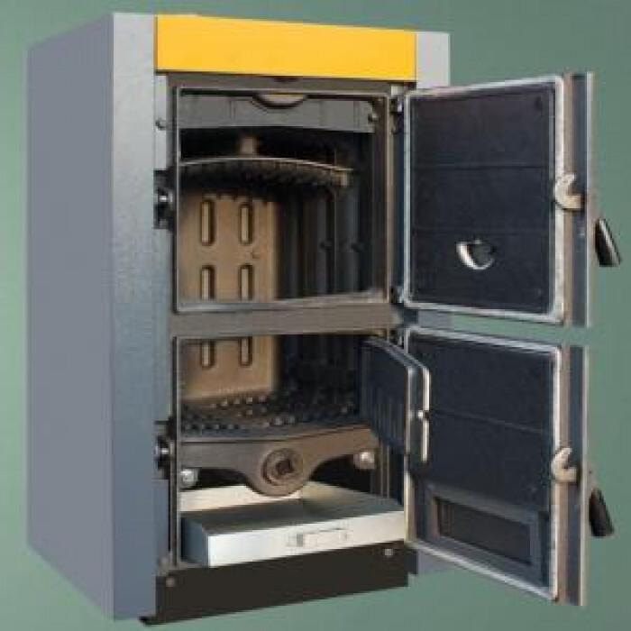 Чугунен двуходов секционен котел на твърдо гориво thor 6 - 6 секции 38 - 42 kw