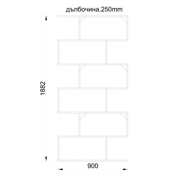 Модулна етажерка / Венге 90х25х188см