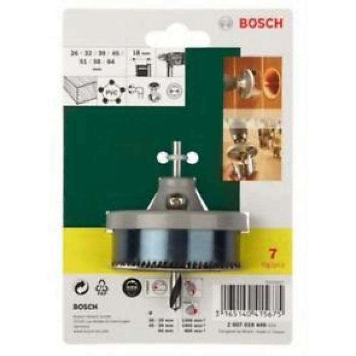 Боркорони Bosch комплект 7 части ø26/32/39/45/51/58/64мм