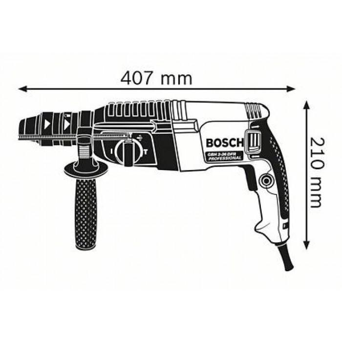Перфоратор Bosch GBH 2-26 DFR 800W 2,7J