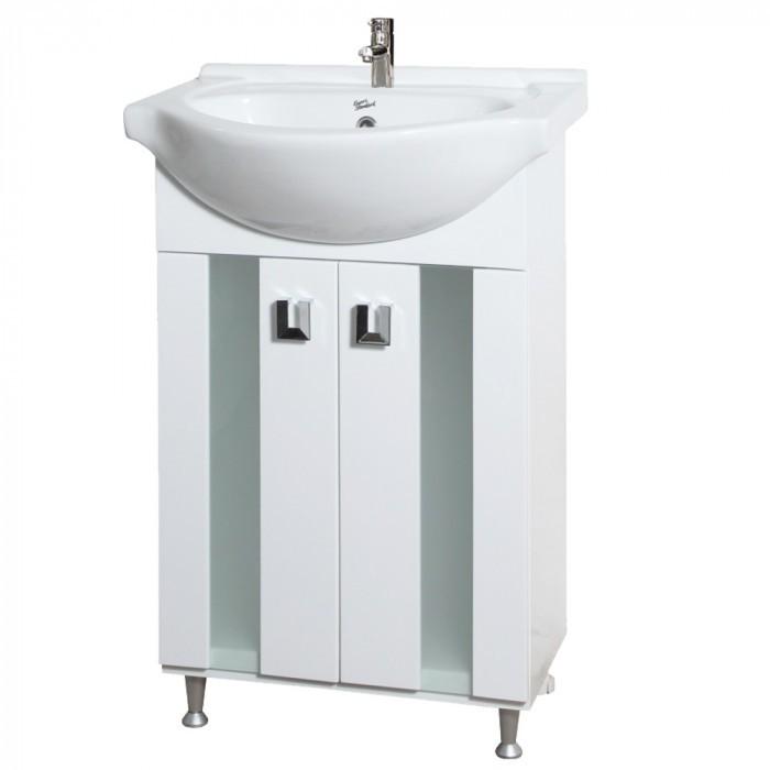 Горен шкаф за баня с огледало Макена Оазис №121 PVC бял