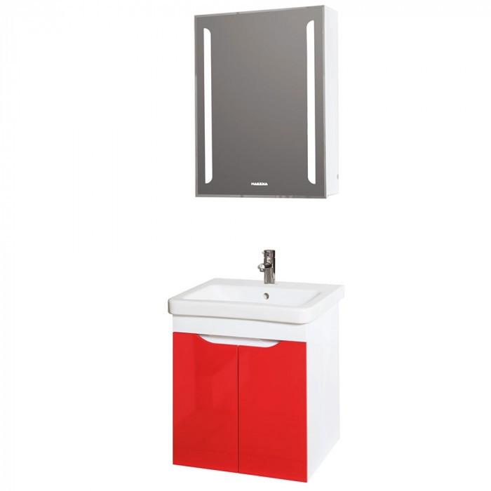 Горен PVC шкаф за баня с огледало Макена Хелиос