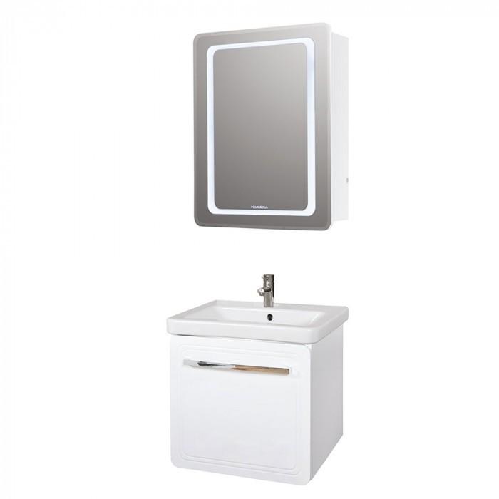 Горен PVC шкаф за баня с огледало Макена Ивон