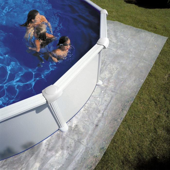 Сглобяем метален басейн с филтърна система овал 1000х550х132см