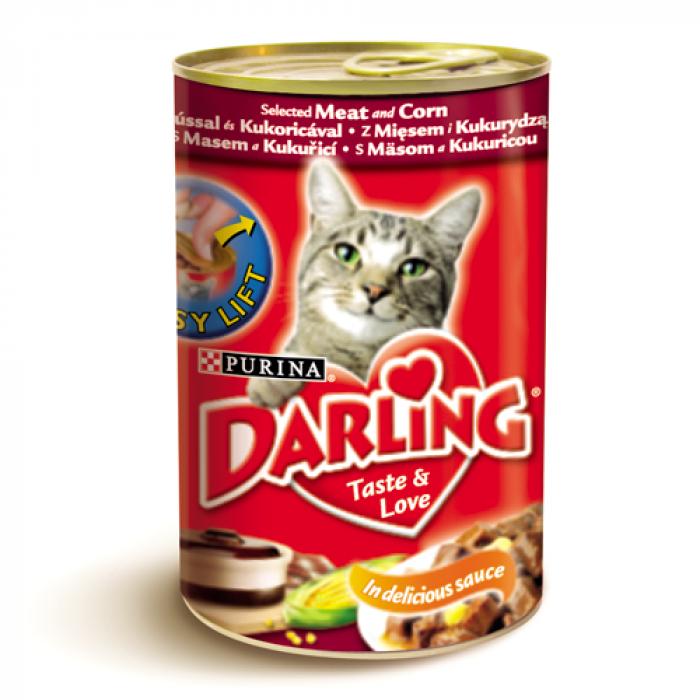 Консерва за котки DARLING с месо и царевица 400 гр.