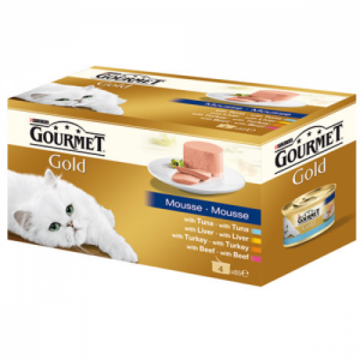 Консерва за котки GOURMET GOLD пастет 4x85 гр.
