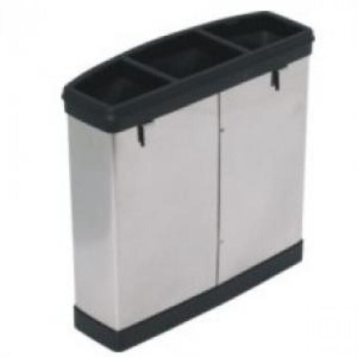 Кухненска поставка за прибори 801 2 хром 55x255x165мм