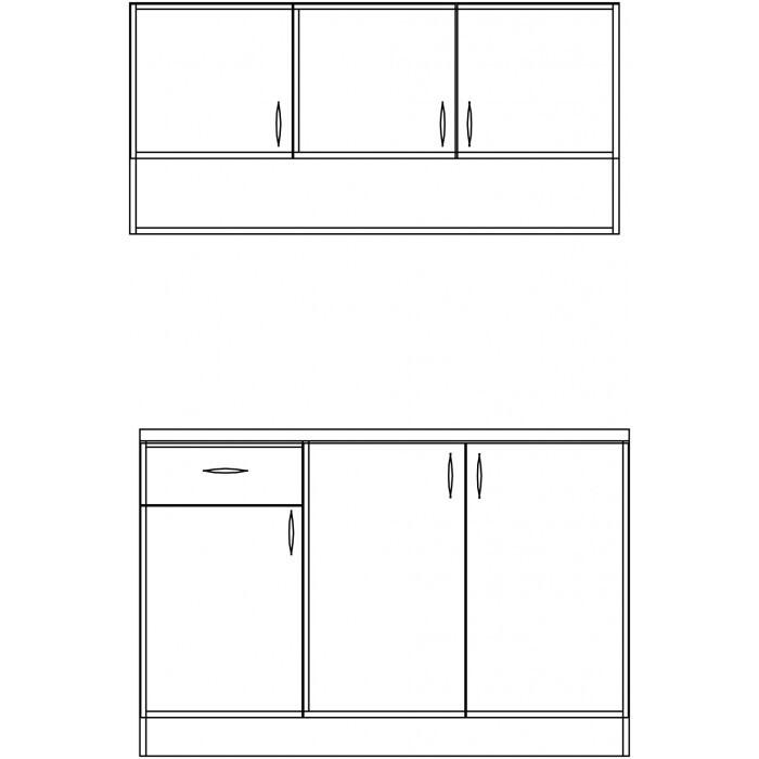 Кухня с термоплот без умивалник Емили 1270мм