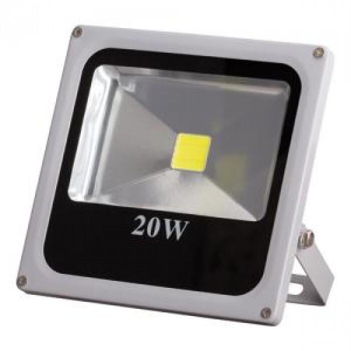 Led прожектор слим ip67 20w, топла светлина
