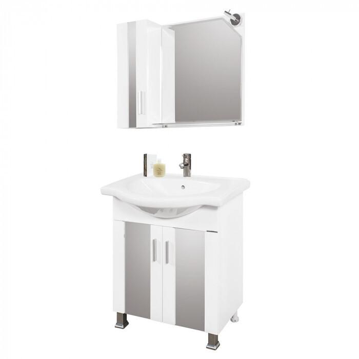 Горен шкаф за баня с огледало Макена Омония