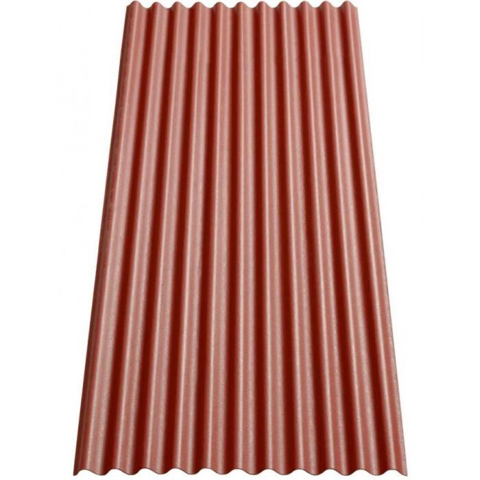 Вълнообразен битумен лист Гутанит К11 / 200х83см червен