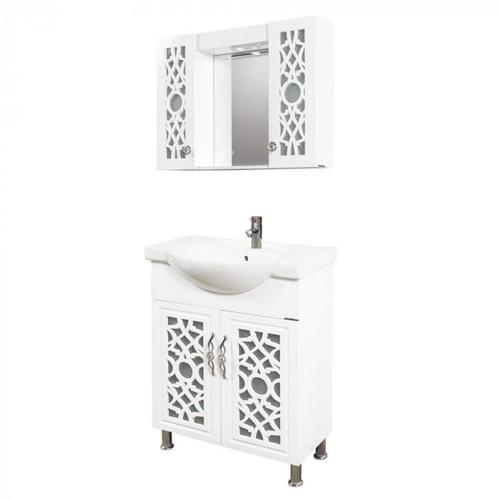 Долен шкаф за баня с мивка Макена Римини
