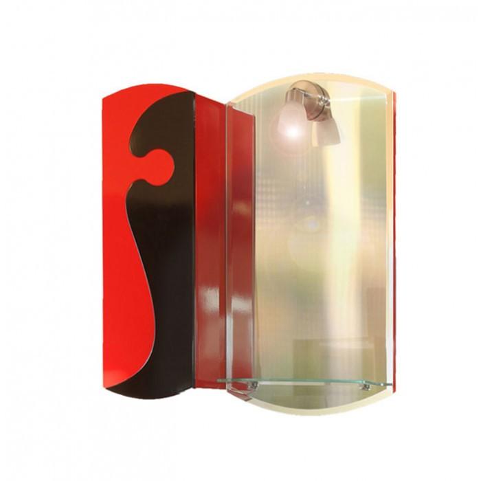 Горен шкаф за баня с огледало Макена Руж