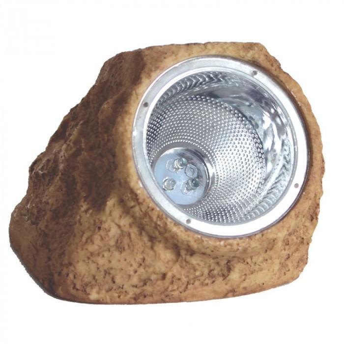 Соларна LED лампа / кафява скала 15х12.5х11см