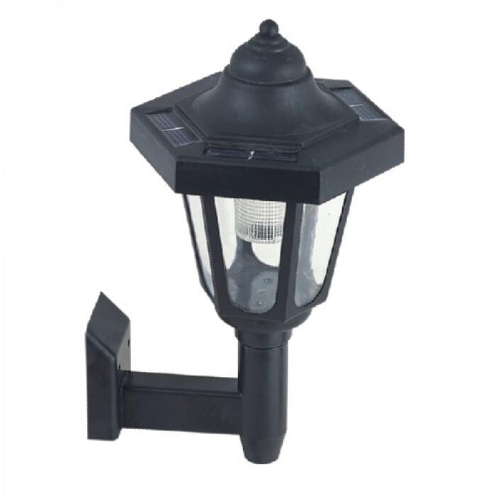 Соларна LED лампа за градина - стенен от PVC