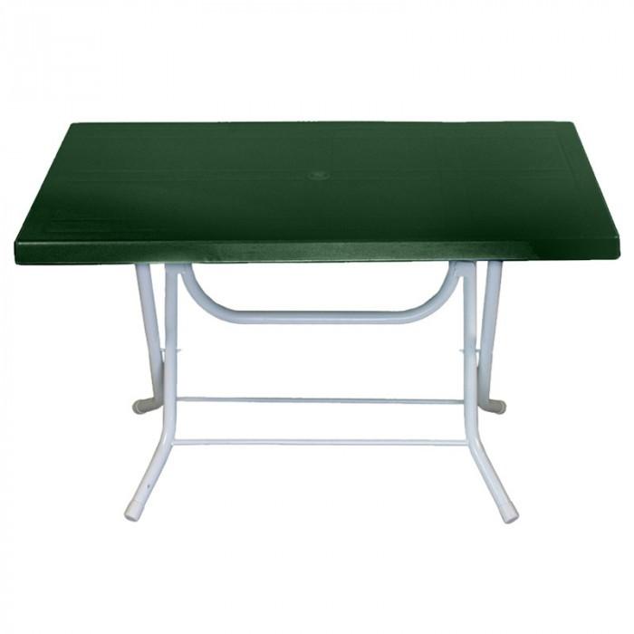 Градинска маса Katlanir със сгъваеми крака 70x120 см / зелена