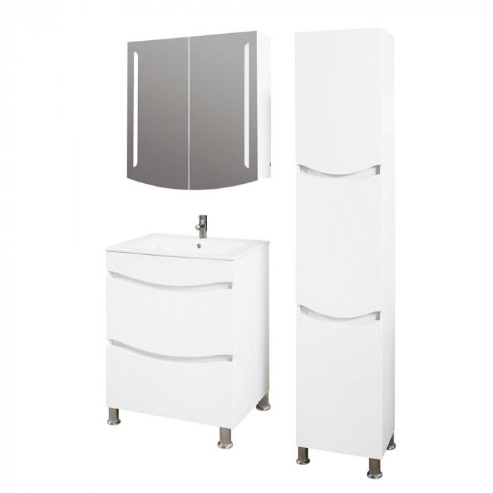 Горен PVC шкаф за баня с огледало Макена Стели 1