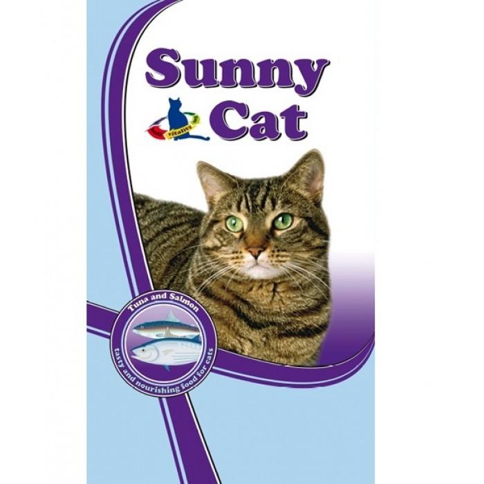 Суха храна за котки СЪНИ КЕТ с риба тон и сьомга 10 кг.