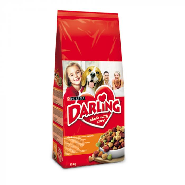 Суха храна за куче DARLING с пиле и зеленчуци 15 кг.