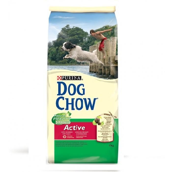 Суха храна за куче DOG CHOW ACTIVE с пиле 15 кг.