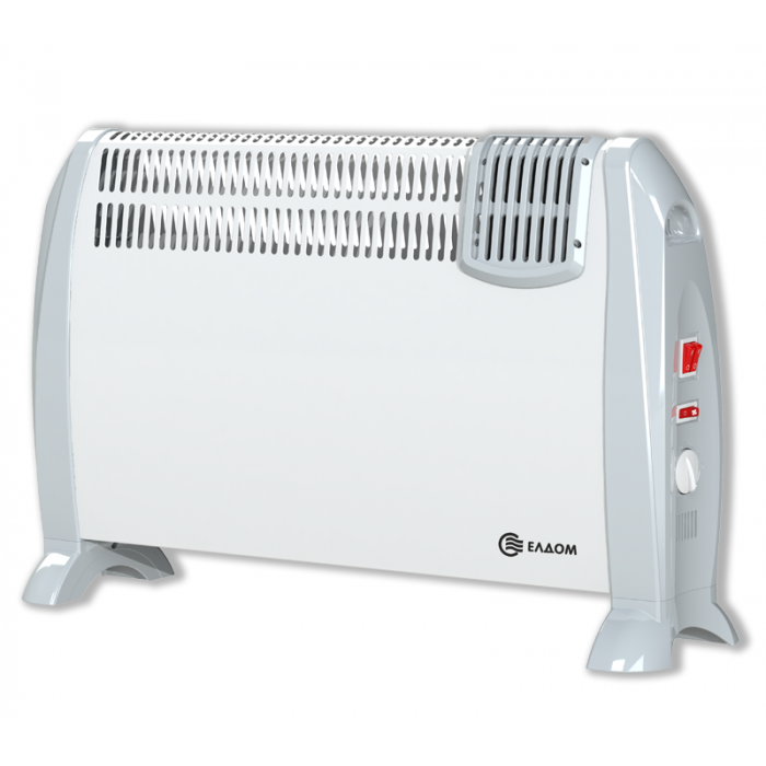 Стоящ конвектор с вентилатор Елдом CFV2000 бял / 2kW