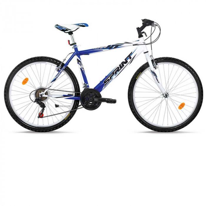 Велосипед leopard eco 26 бяло и синьо