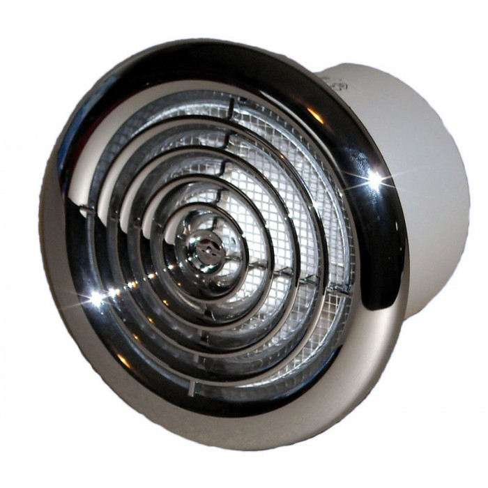 Вентилатор Vents 100 PF хром / 14W