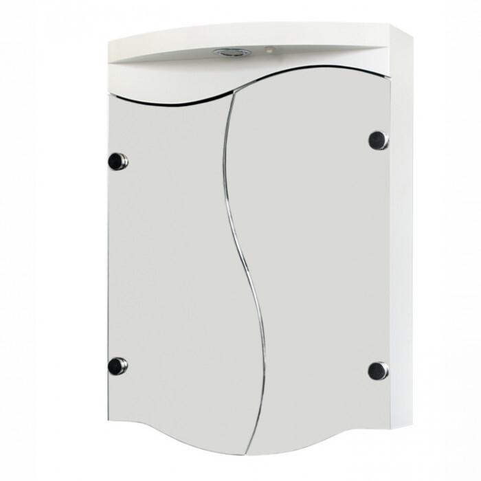 Горен PVC шкаф за баня с огледало Макена Тринити