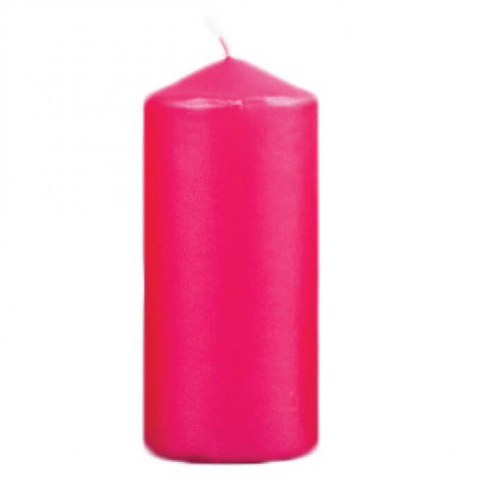 Червена свещ металик 50x10мм